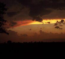 watercolor sunset by visceralrevolt