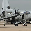 AV8B and KC-130J by Barrie Woodward