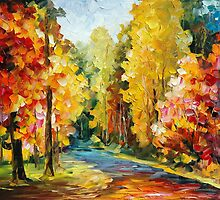 CALM DAY - LEONID AFREMOV by Leonid  Afremov