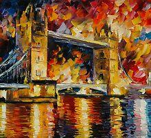 LONDON BRIDGE - LEONID AFREMOV by Leonid  Afremov