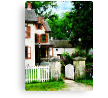 Victorian Home with Open Gate Canvas Print