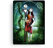 JACK AND SALLY A STRANGE AND WONDERFUL LOVE Canvas Print