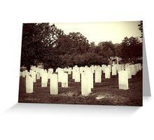 Confederate Headstones Greeting Card