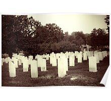Confederate Headstones Poster
