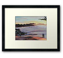 Carmel Peachy Sunset Painting Framed Print
