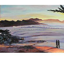 Carmel Peachy Sunset Painting Photographic Print