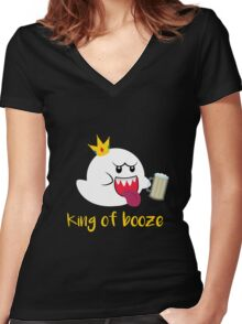 King of Booze Women's Fitted V-Neck T-Shirt