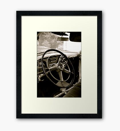 Chiefs Steering Wheel Framed Print