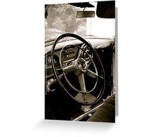 Chiefs Steering Wheel Greeting Card