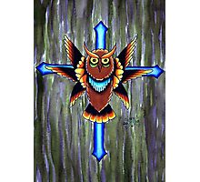 Crucified Owl Photographic Print