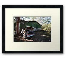 Rusted Pickup Framed Print