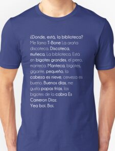 ¿ Donde Está La Biblioteca  ? Unisex T-Shirt