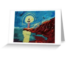 Lighthouse on La Jolla,, watercolor Greeting Card