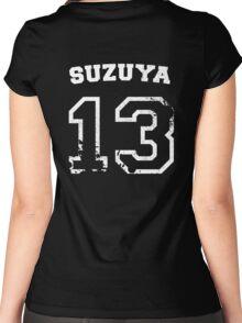 Juuzou Suzuya Collegiate Splatter Women's Fitted Scoop T-Shirt