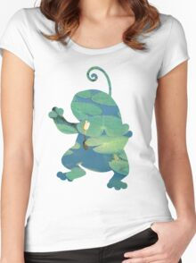 Politoed used mud shot Women's Fitted Scoop T-Shirt