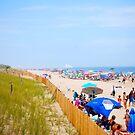 People covered beach in Delaware by Jennifer P. Zduniak