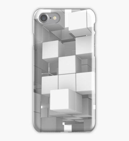 White cube structure iPhone Case/Skin