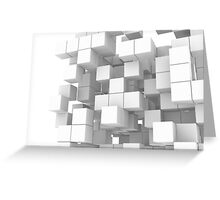 White cube structure Greeting Card