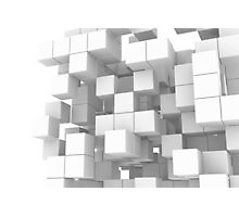 White cube structure Photographic Print