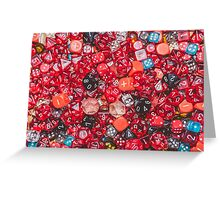 All the red dice Greeting Card