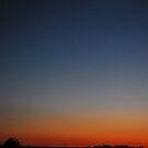 Sunset and Crescent Moon in PA. by Jennifer P. Zduniak