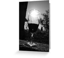 Empty Wine Greeting Card