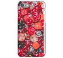 All the red dice iPhone Case/Skin