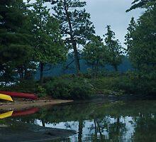 Cottage Neighbours Kayaks by JimSanders