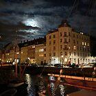 Copenhagen At Night by Jenny Hudson