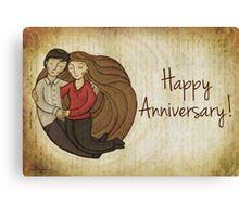 Happy Anniversary Card Canvas Print