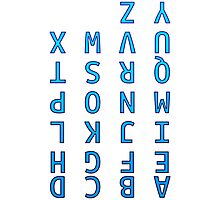 Upside Down Alphabet Photographic Print