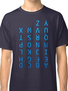 Upside Down Alphabet Classic T-Shirt