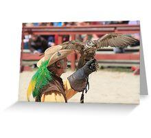 Ray Pena Master Falconer Greeting Card