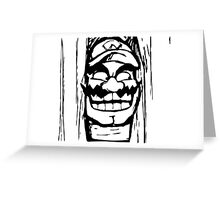 Wario shining Greeting Card