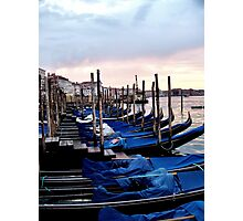 Venice - Waiting for the Day to Start Photographic Print