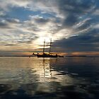 """Schooner """"Alert"""" off Camden Harbor, Maine by LifeInMaine"""
