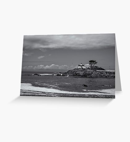 MONOCHROME LIGHTHOUSE Greeting Card