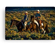 Wyoming Cowboys Canvas Print