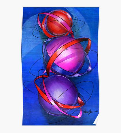 Parallel Universe, Modern Abstract, by Alma Lee Poster