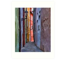 Shopkeeper's Lane - Cheb, Czech Republic Art Print