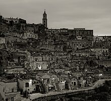 Sassi Evening, Matera, Basilicata, Italy by Andrew Jones