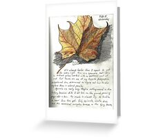 Nature Sketching Day 3- Yellow Sycamore Leaf Greeting Card