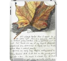 Nature Sketching Day 3- Yellow Sycamore Leaf iPad Case/Skin