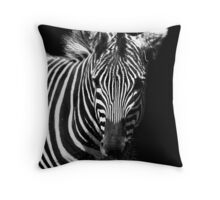 Striped BW Throw Pillow