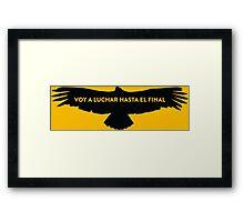 Nairo Quintana : Fight TDF2015 Black Logo Framed Print