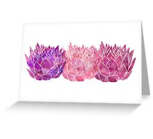 Triple Lotus Greeting Card