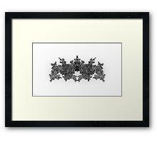 Fractal Invader Framed Print