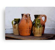 Ceramic Jugs Canvas Print