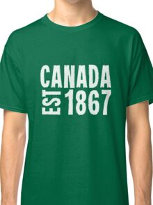 Canada Established 1867 Anniversary 150 Years Classic T-Shirt