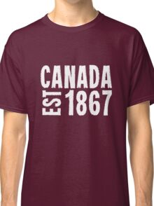 Canada Established 1867 Anniversary 150 Years Classic T-Shirt